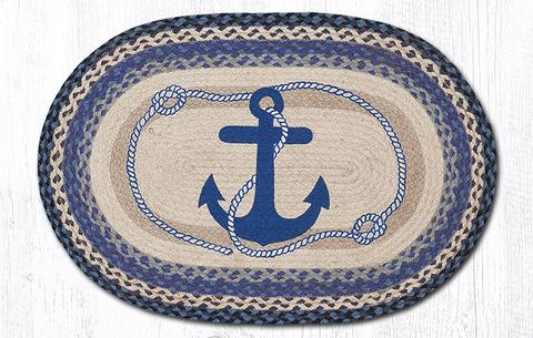 Anchor & Rope Jute Rug Oval